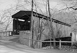 Covered Bridge, Thomas Mill Road (Spanning Wissahickon Creek), Philadelphia (Philadelphia County, Pennsylvania).jpg