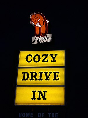 Man v. Food (season 2) - The sign at the Cozy Dog Drive In, featuring the original logo