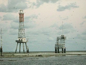 Creal Reef Light - The light is the tower on the left