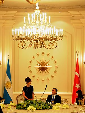 Argentina–Turkey relations - President Cristina Kirchner and President Abdullah Gul in Ankara, 2011.