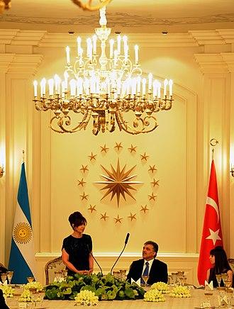 Argentina–Turkey relations - President Cristina Kirchner and President Abdullah Gul in Ankara, 2011.
