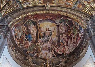 Girolamo Mazzola Bedoli - Image: Cristo en el Juicio Final Duomo Parma