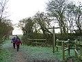 Crossing old railway line east of Stevington windmill - geograph.org.uk - 680667.jpg