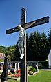 Crucifix at Michelbach cemetery, Lower Austria.jpg