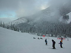 Skiers at Cypress Mountain