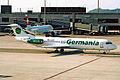 D-AGPB 1 Fokker 100 Germania ZRH 18MAY03 (6876012085).jpg