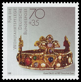 Essen Crown - The crown on a postage stamp (1988)