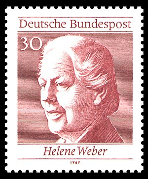 Helene Weber - Helene Weber on a German stamp
