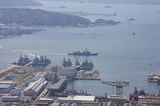 United States Fleet Activities Sasebo - USFA Sasebo looking south, 2008