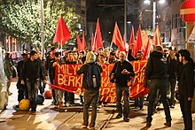 DHKP-C supporters protest the killing of Berkin Elvan on General Asım Gündüz Cd, Kadıköy, Istanbul 4.jpg