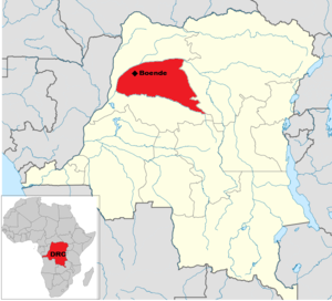 2014 Democratic Republic of the Congo Ebola virus outbreak - Image: DRC Ebola Map