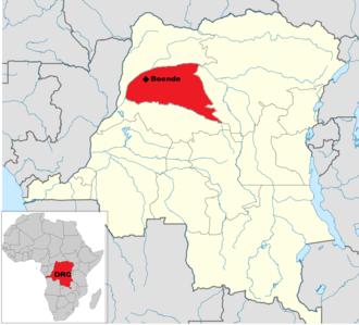 2014 Democratic Republic of the Congo Ebola virus outbreak - Image: DRC Ebola Map