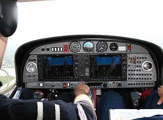 Electronic flight instrument system - Garmin G1000 on a Diamond DA42