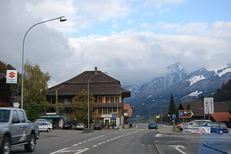Därstetten - Därstetten municipality and surrounding mountains