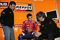 Dani Pedrosa, Mike Leitner and Alberto Puig 2005 Valencia test.jpg