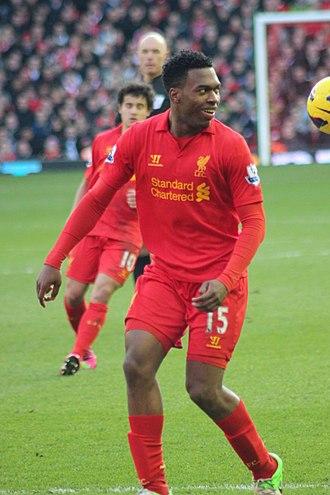 Daniel Sturridge - Sturridge playing for Liverpool in 2013