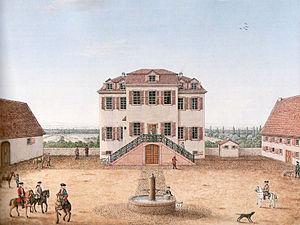 Bessungen - Bessunger Jagdhof und Kavaliershaus, in 1872