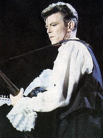Bowie in Chile during the Sound+Vision Tour, 1990 David Bowie Chile.jpg