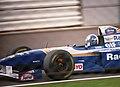 David Coulthard - Williams FW17 braking for Copse at the 1995 British Grand Prix, Silverstone (49728003116).jpg