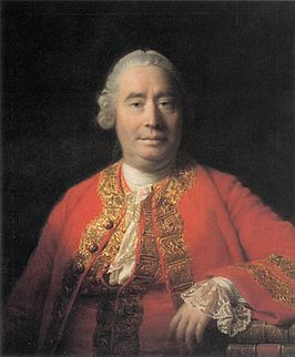 David Hume geschilderd door Allan Ramsay in 1766 (Scottish National Gallery of Modern Art)