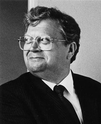 David Lange - Prime Minister David Lange, at the opening of the new Foxton Post Office, 1980s