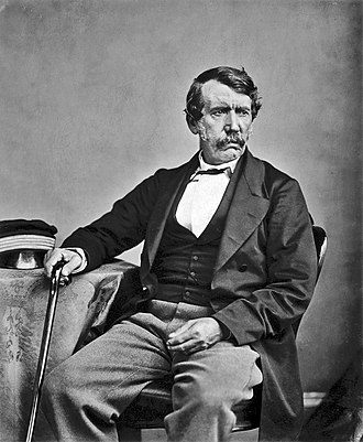 British diaspora in Africa - David Livingstone (taken in 1864) left Britain for Africa in 1840