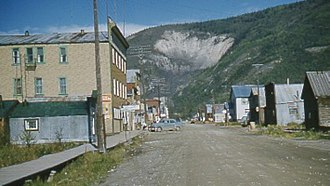 Mining community - Dawson City, Yukon, Canada, in 1957.