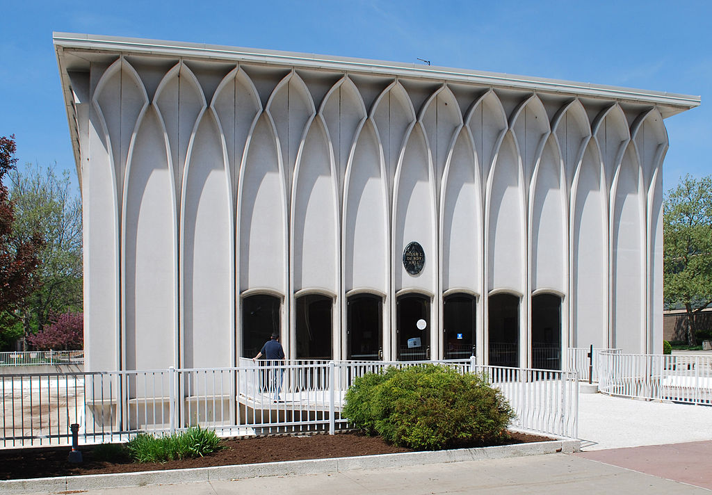 Helen Deroy Auditorium And Pis Building Detroit Mi Usa 1964 Architect Minoru Yamasaki