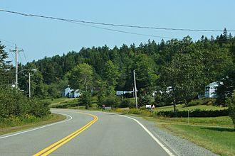 Nova Scotia Route 336 - Route 336 at Dean