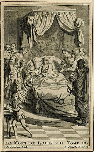 Michel Le Vassor - The death of Louis XIII, illustration from Le Vassor's history.