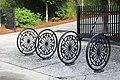 Decorative bicycle racks, Memminger Elementary School, Charleston.jpg