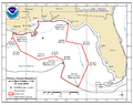Deepwater Horizon oil spill fishing closure map 2010-06-21.png