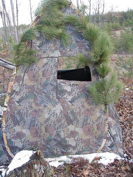 File Deer Blind Jpg Wikimedia Commons