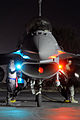 Defense.gov News Photo 100629-F-9119C-016 - U.S. Air Force airmen from the 169th Maintenance Group out of McEntire Joint National Guard Base S.C. perform post-flight checks on an F-16.jpg