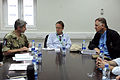 Defense.gov News Photo 101028-D-7203C-006 - Deputy Secretary of Defense William J. Lynn III meets with members of the Provincial Reconstruction Team in Lashkar Gah Afghanistan on Oct. 28.jpg