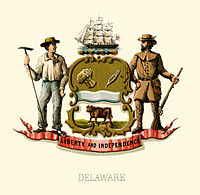 Delaware state coat of arms