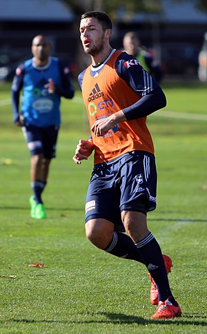 Matthieu Delpierre - Matthieu Delpierre training for Melbourne Victory, May 2015