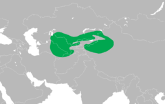 Dendrocopos leucopterus distribution map.png