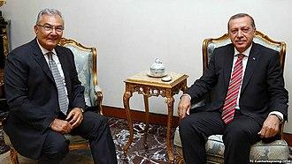 Deniz Baykal - Deniz Baykal meeting President Recep Tayyip Erdoğan in 2015