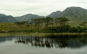Binn Dubh - Bencollaghduff is the second mountain from the left