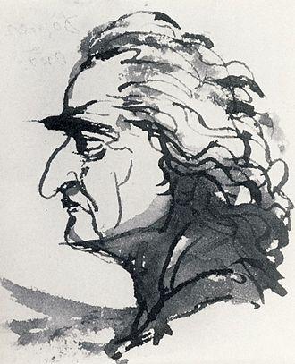 Louis Jean Desprez - Louis Jean Desprez by Tobias Sergel, ca 1795