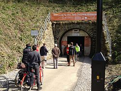 Devonshire Tunnel portal on opening day.jpg