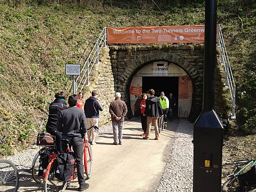 Devonshire Tunnel portal on opening day