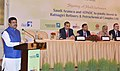 Dharmendra Pradhan addressing the signing ceremony of an MoU between Saudi Aramco & ADNOC to invest in the proposed Ratnagiri Refinery & Petrochemicals (RRPCL), in New Delhi.JPG
