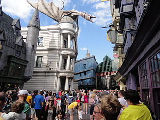 The Wizarding World of Harry Potter (Universal Orlando Resort) - Gringotts Bank, which houses Harry Potter and the Escape from Gringotts