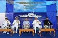 Dignitaries on stage at the commissioning ceremony of ICGS Rajveer.jpg