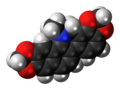 Dihydrosanguinarine molecule spacefill.png
