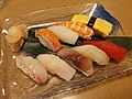 Dishes at sushi restaurant near Moon Beach 2.jpg