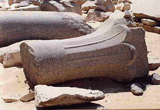 Pyramid of Djedkare Isesi - Palmiform column from the pyramid complex