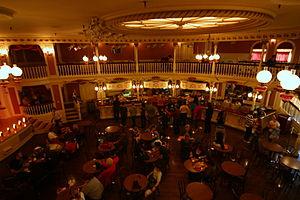 Golden Horseshoe Saloon - The interior of the Saloon